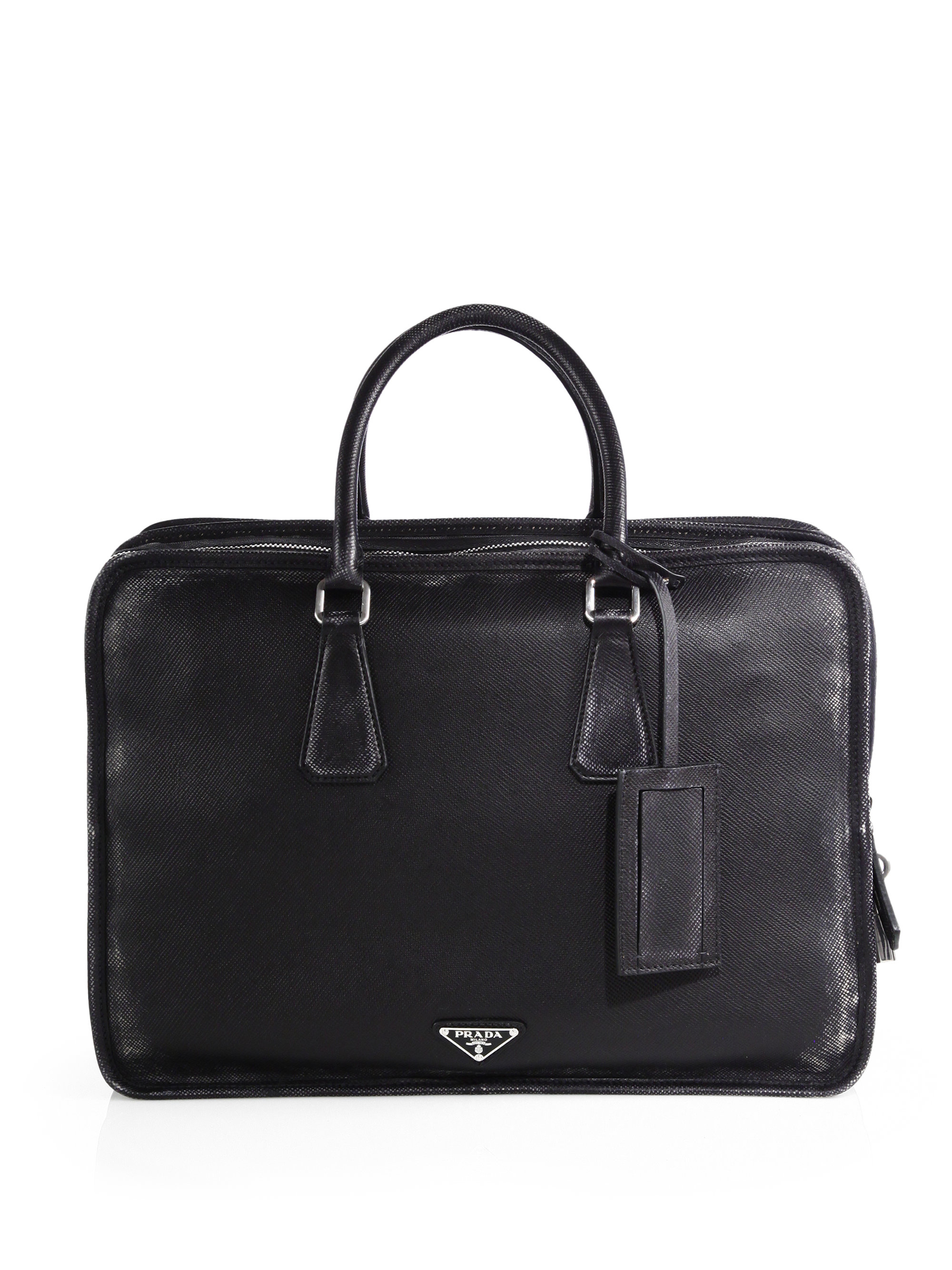 Lyst Prada Saffiano Cuir Briefcase In Black For Men