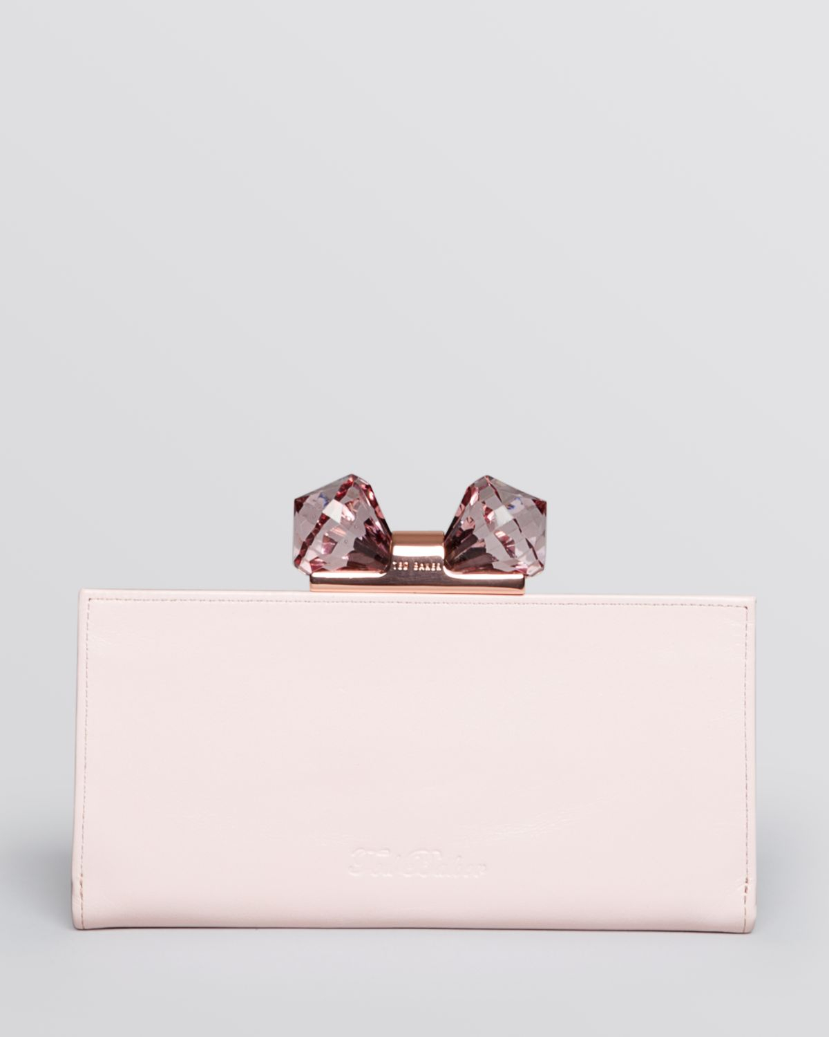 1f59d80d4316a0 Lyst Ted Baker Wallet Crystal Bow Matinee Continental In Pink