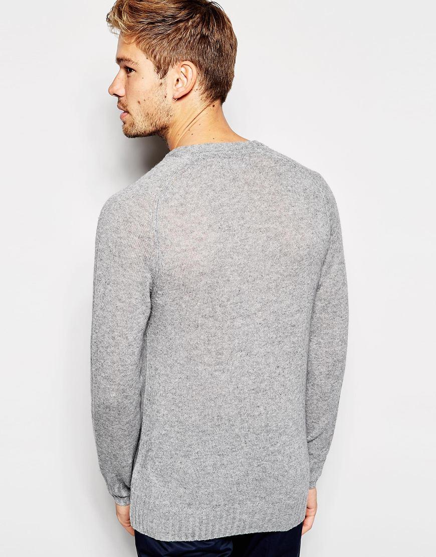 Gray Crew Cashmere Men Wool Neck For Lyst In Esprit Sweater EOwB1tqx0n