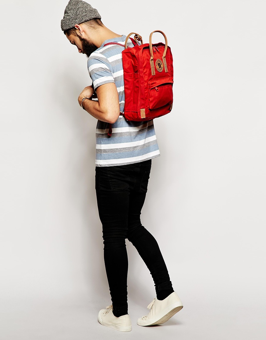 Lyst Fjallraven Kanken No 2 Backpack In Red For Men No2 Full Black Gallery