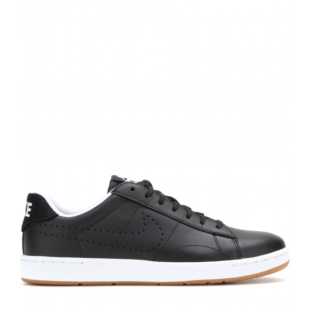 nike tennis classic ultra leather sneakers in black lyst
