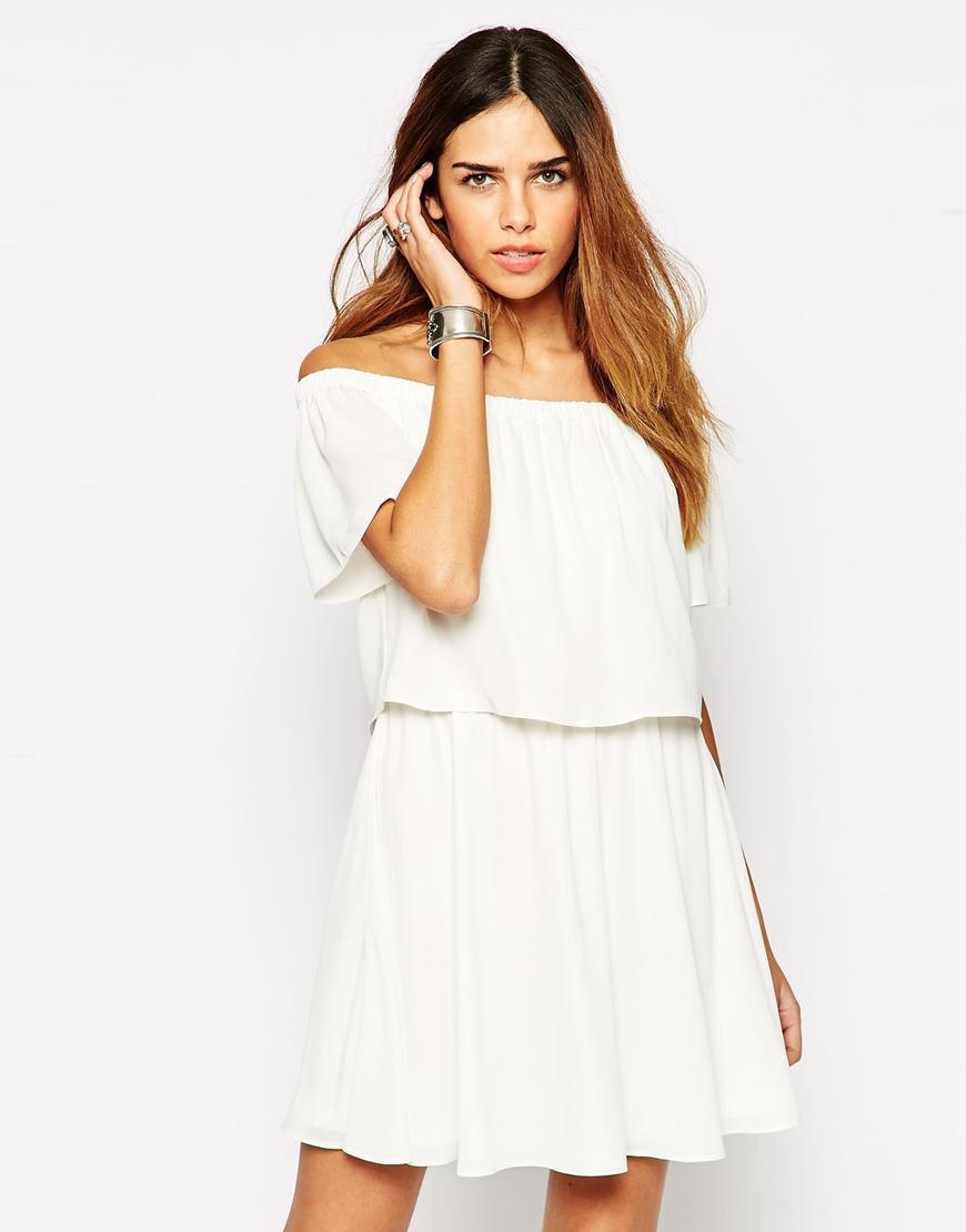 Images of Off Shoulder White Dress - Reikian
