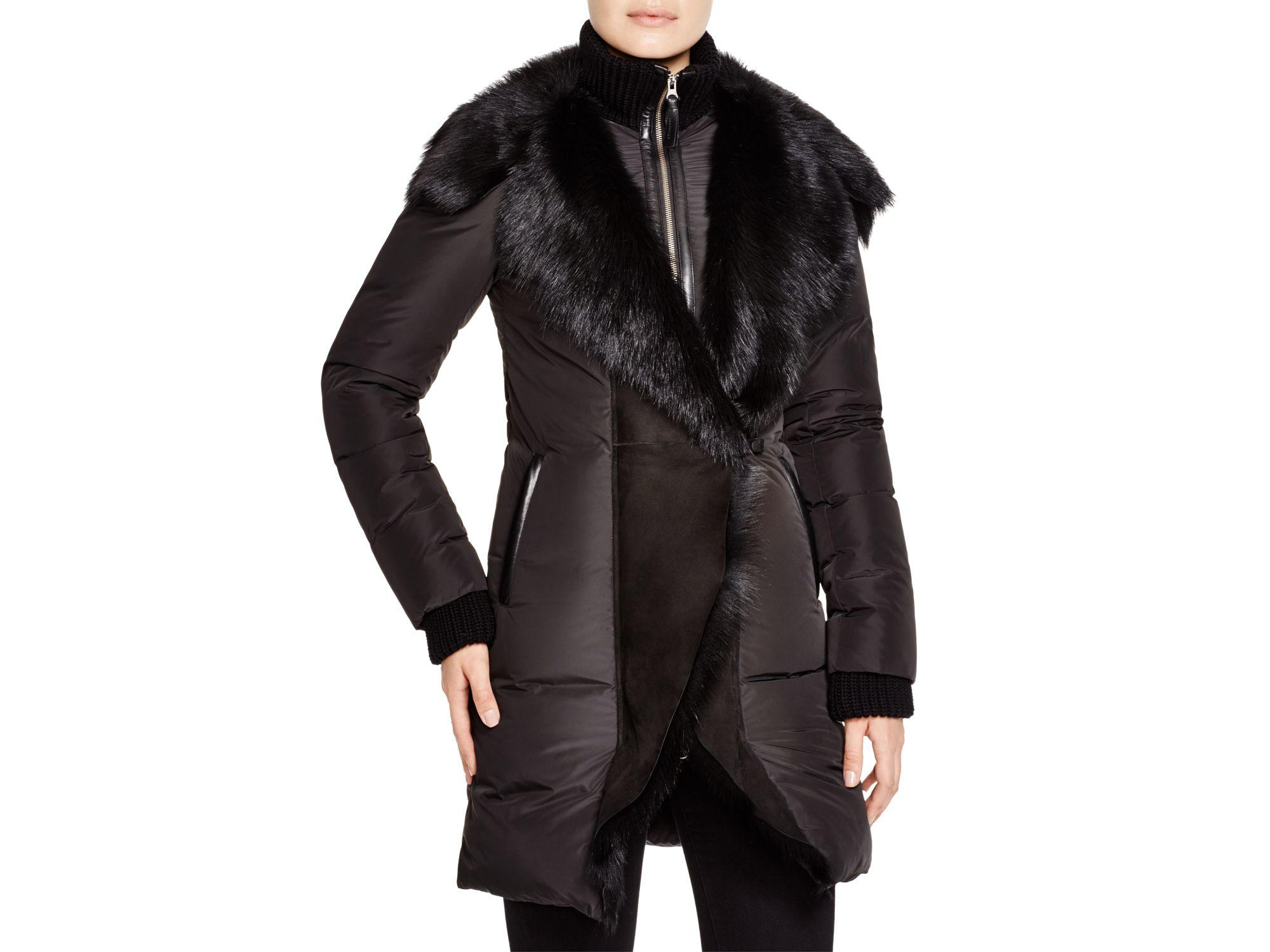 f901549a ... order mackage adora shearling puffer coat in black lyst f0343 a3950