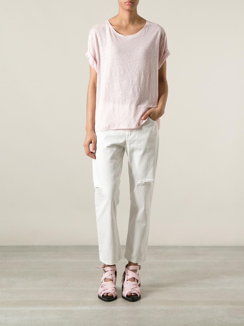 b30dd5d1ac0f Acne Studios Wonder Linen Tshirt in Pink - Lyst