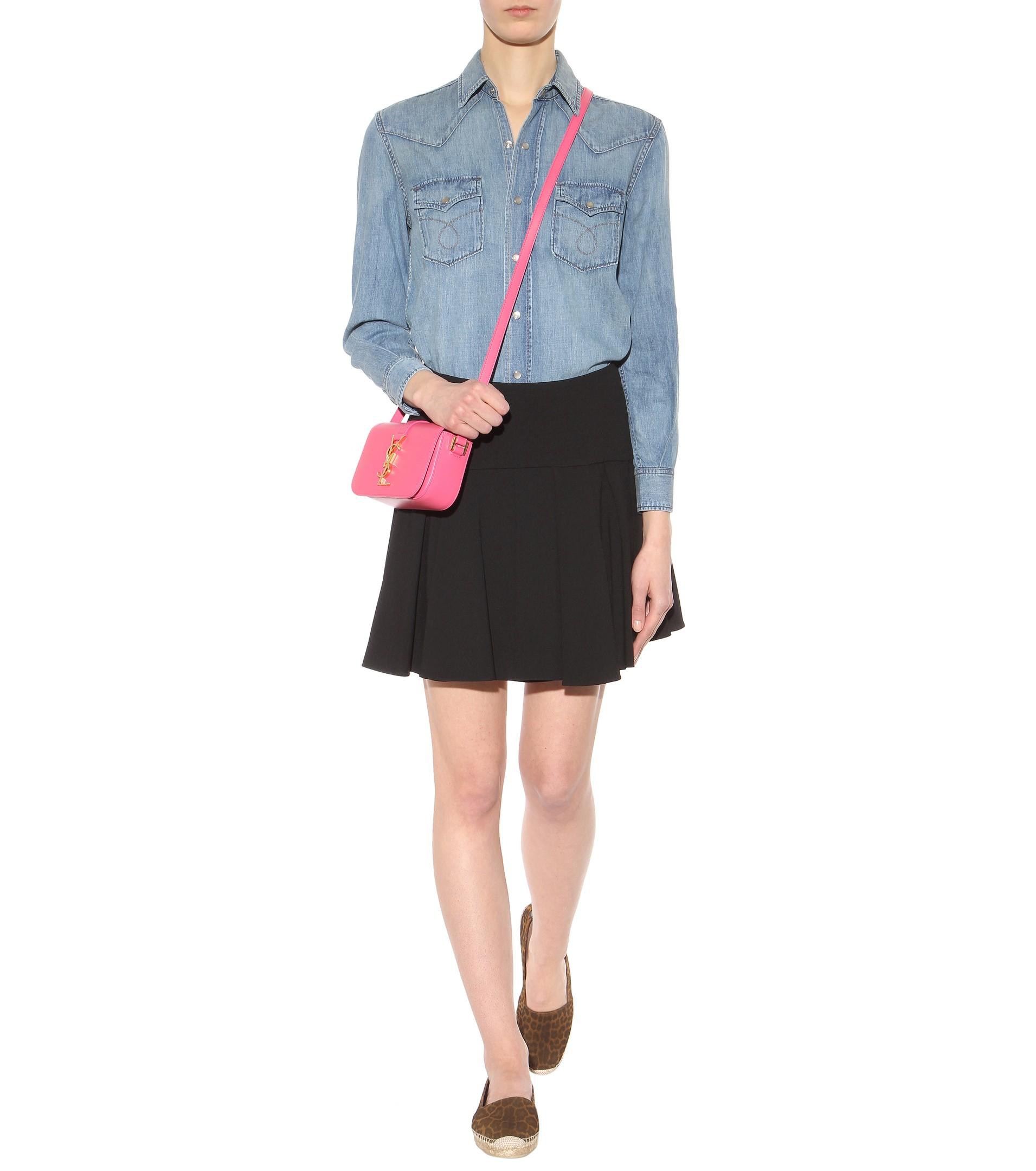 Lyst - Saint Laurent Monogram Université Small Leather Shoulder Bag ... 0074776d9aadd