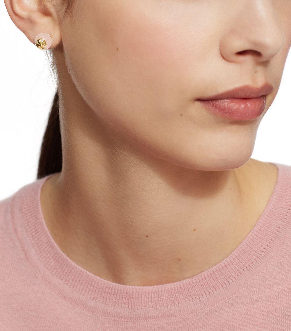 Gallery Women S Rose Quartz Jewelry Logo Earrings