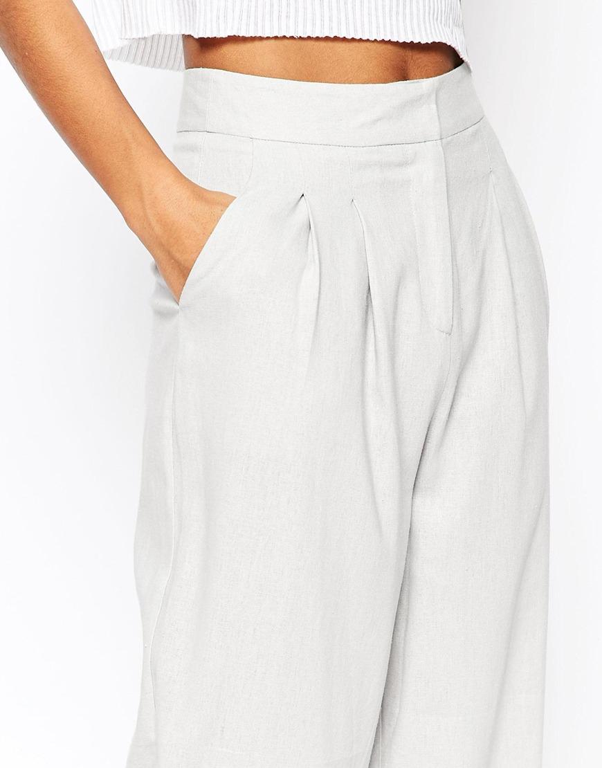 Beautiful Unique Grey Womens PantsOrigami Trousers 4 Way Pantswomens Wrap PantsWide