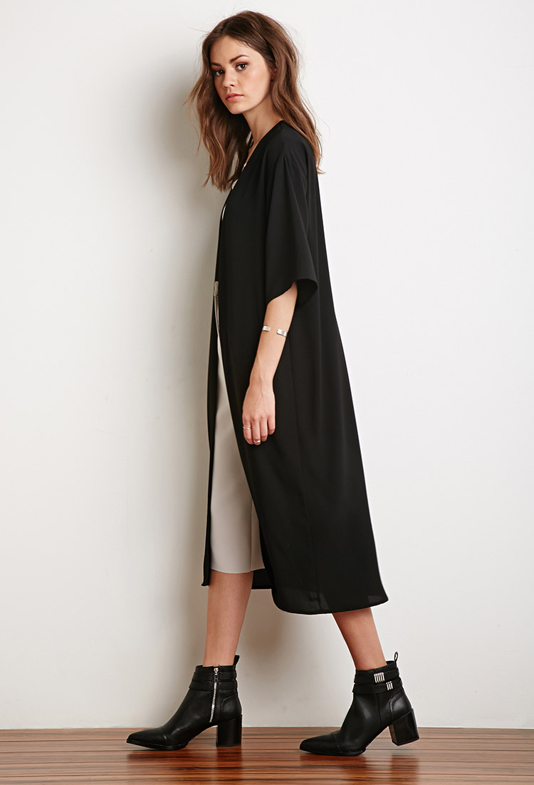 Forever 21 Chiffon Maxi Cardigan You've Been Added To The Waitlist ...