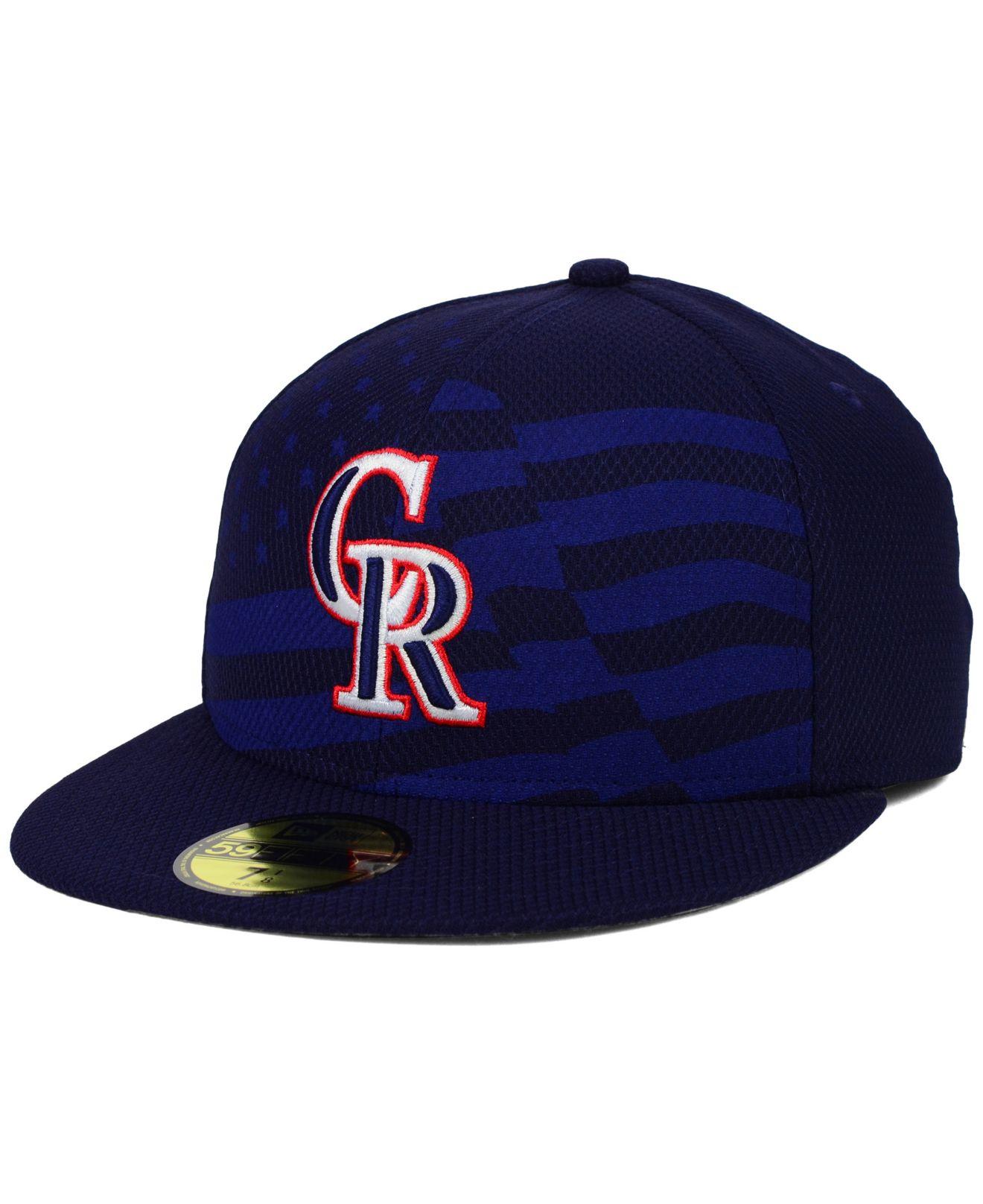 cheap for discount 689f2 02009 ... good lyst ktz colorado rockies july 4th stars stripes 59fifty cap in  99de0 c4bda