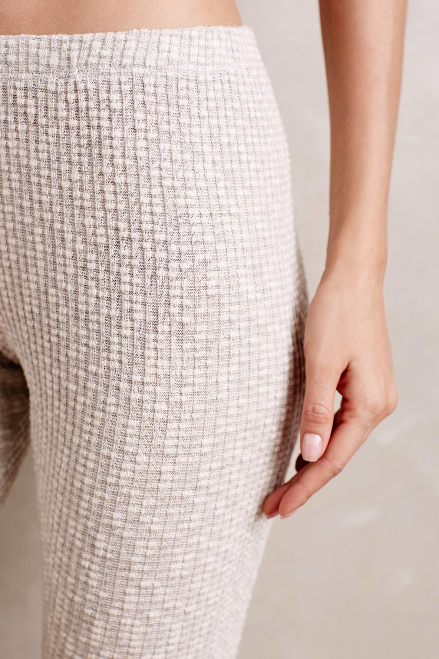 Everleigh Ribbed Sweaterknit Leggings in Natural   Lyst