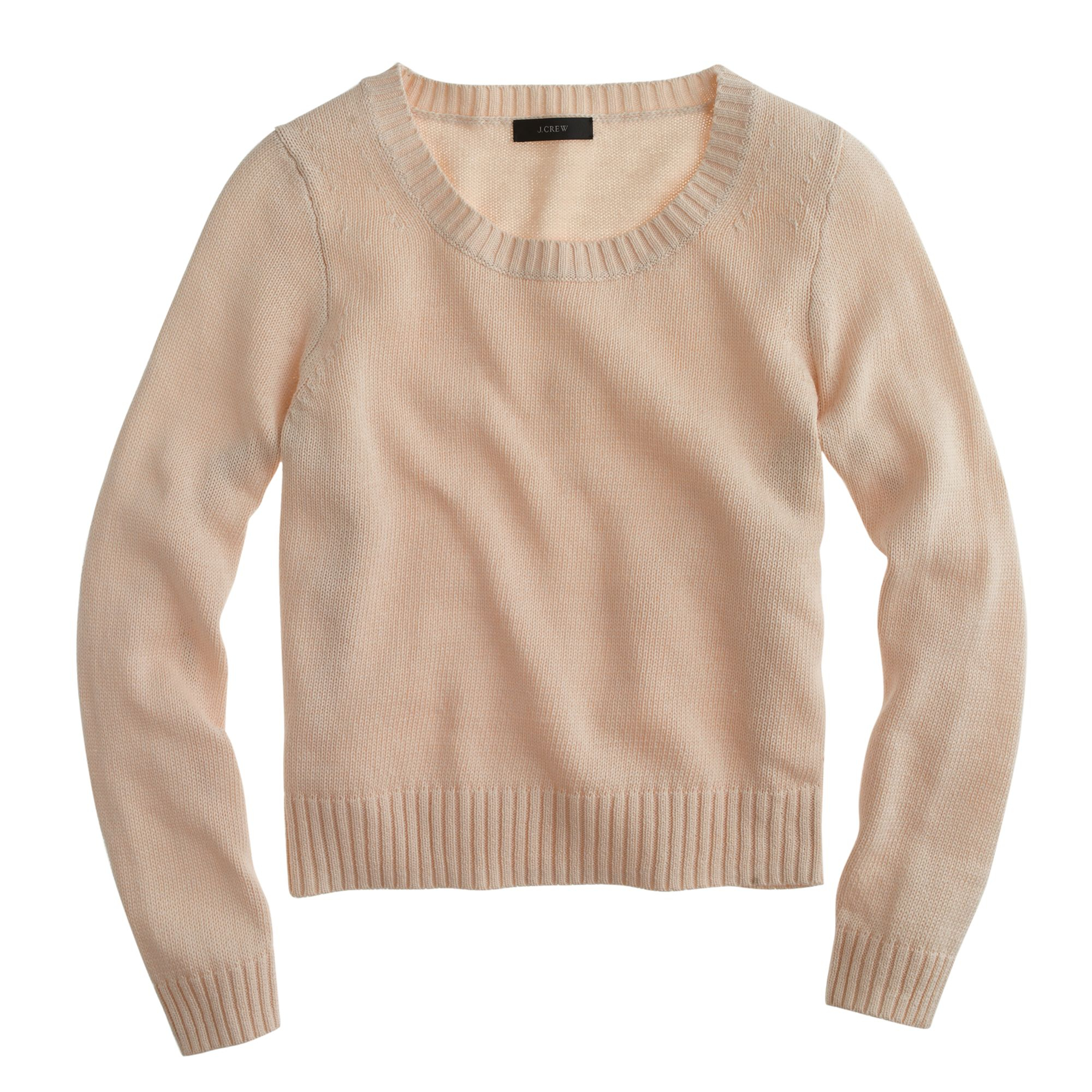 J.crew Cotton Cropped Sweater in Brown | Lyst