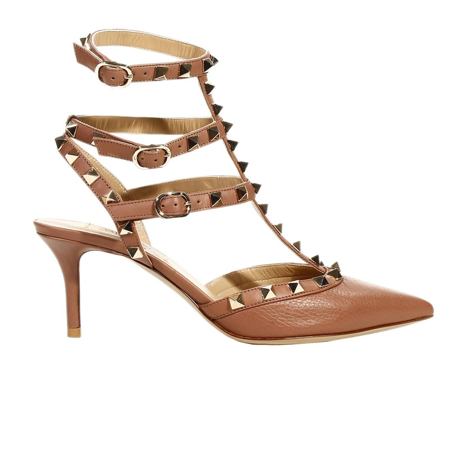 Valentino Shoes Heel 6 Rockstud Leather with Studs in ...