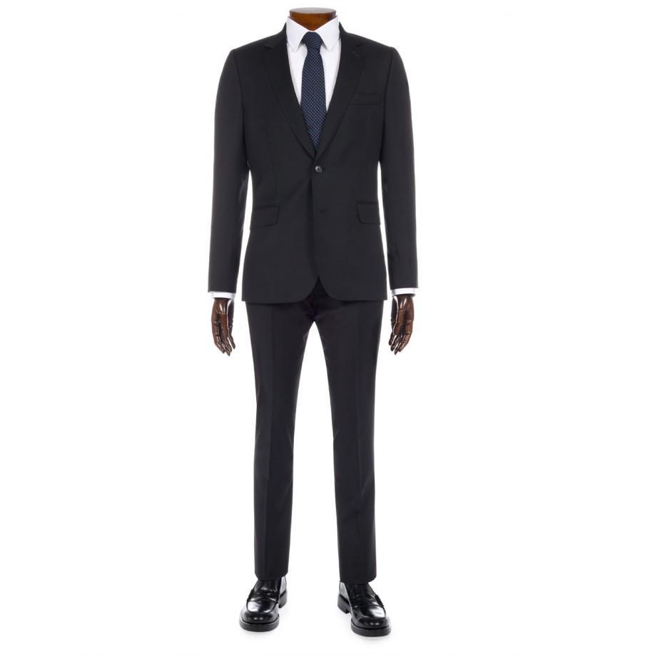 Paul smith Men's Slim-fit Black Wool-twill Suit in Blue ...