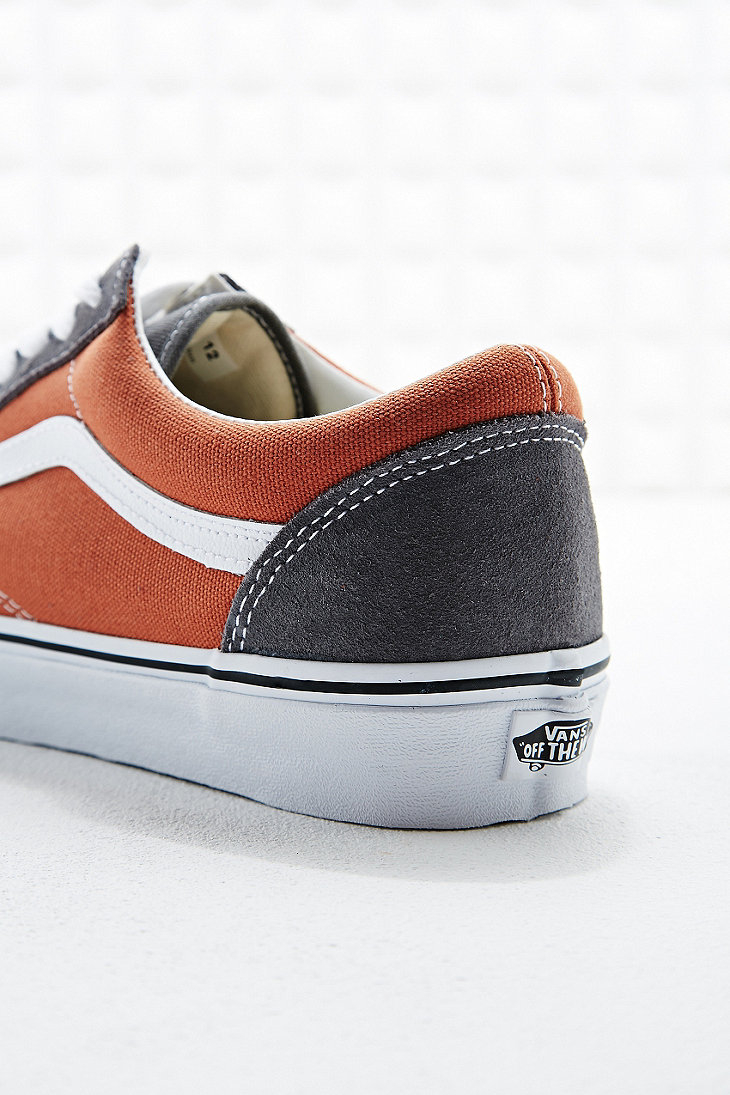 c1a9e7f1e86a5c Vans Old Skool Trainers in Rust Orange and Grey in Gray for Men - Lyst