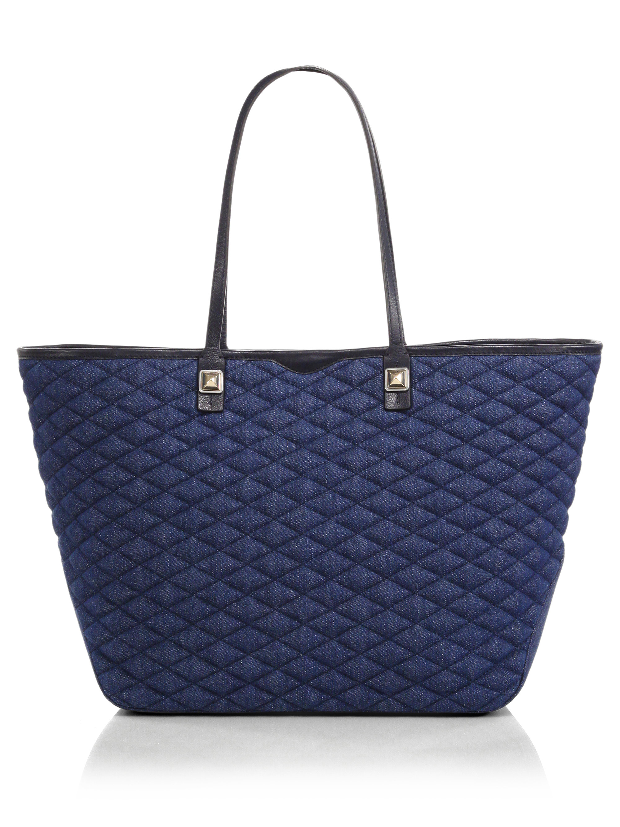 Rebecca Minkoff Everywhere Quilted Denim Tote In Blue Lyst