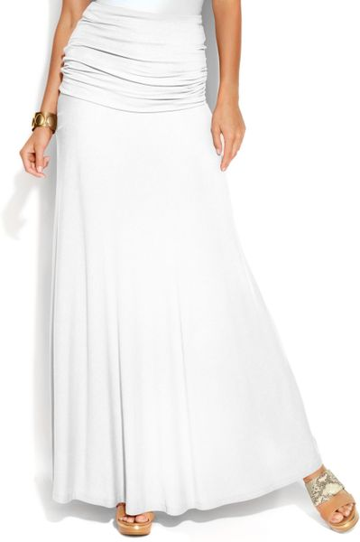 inc international concepts convertible maxi skirt in white