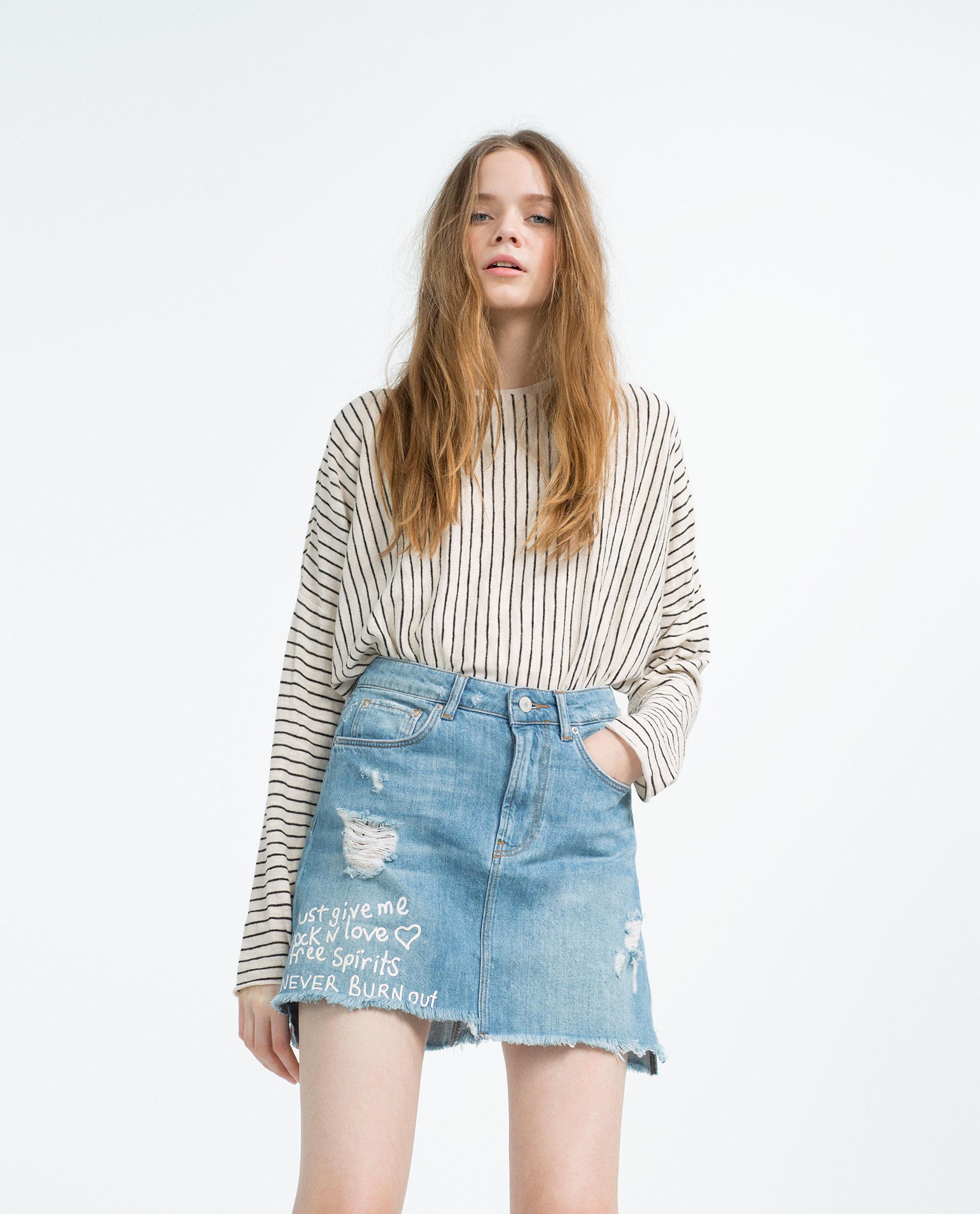 ce314d08 Denim Patchwork Skirt Zara   Lixnet AG