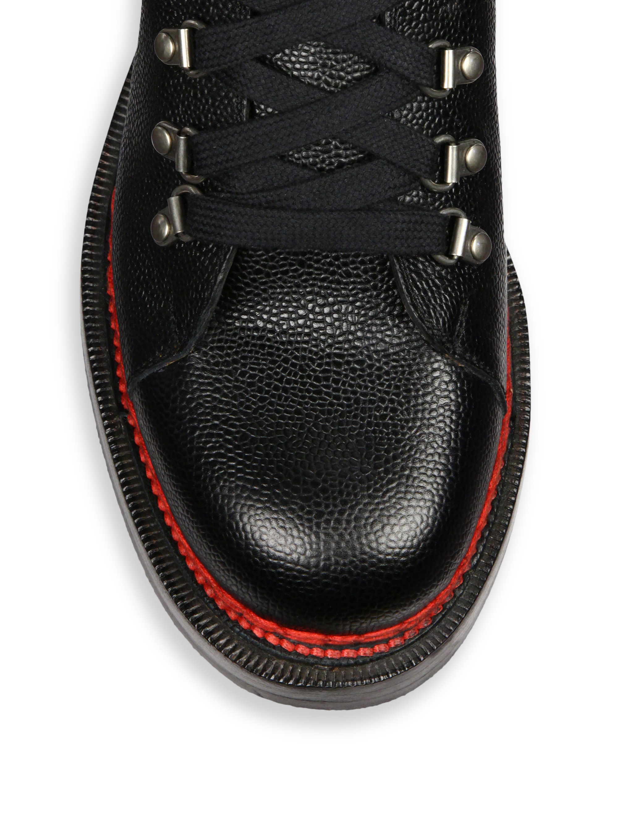 0b7fb0cf4751 Lyst - Gucci Tracker Lace-Up Leather and Suede Boots in Black for Men