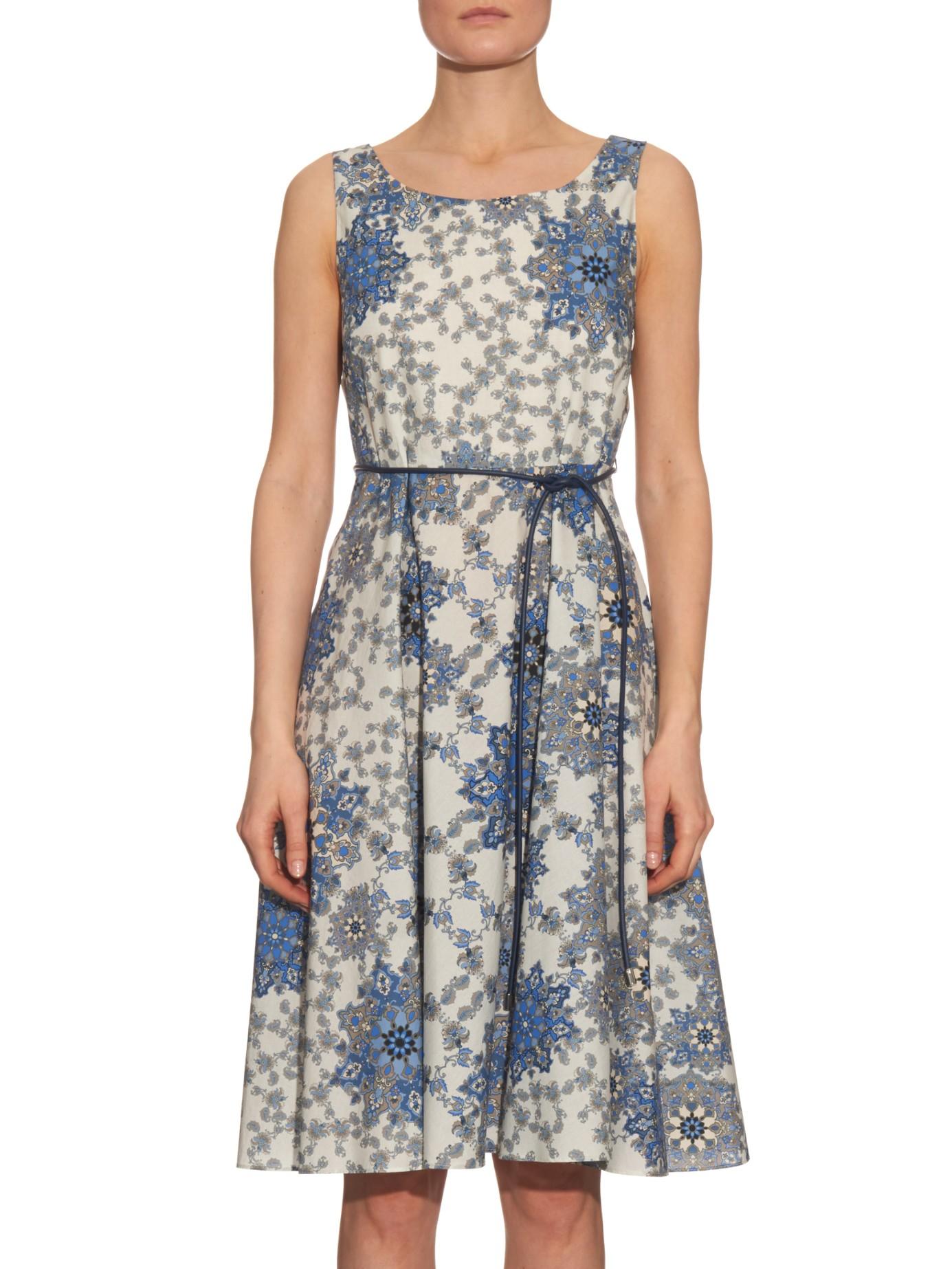 max mara studio maresca dress in blue lyst. Black Bedroom Furniture Sets. Home Design Ideas