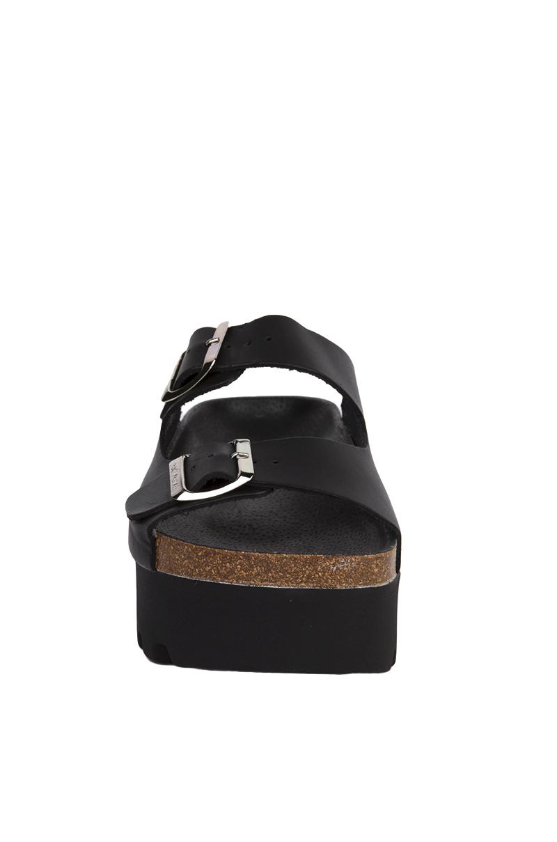 Sixtyseven Lisa Vachetta Black Platform Sandals In Black