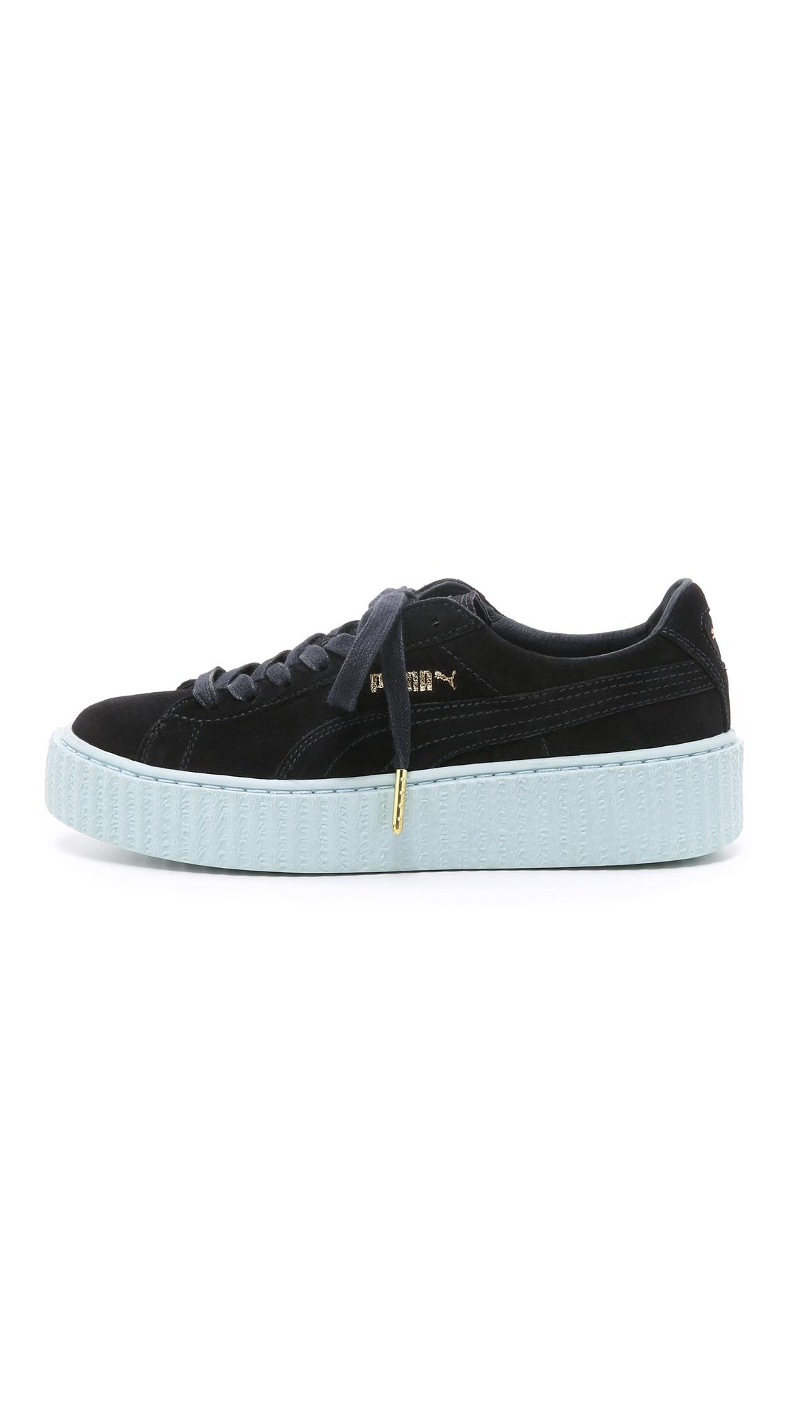 6b7e1f46274 Lyst - PUMA X Rihanna Creeper Sneakers - Pea Coat cool Blue in Green