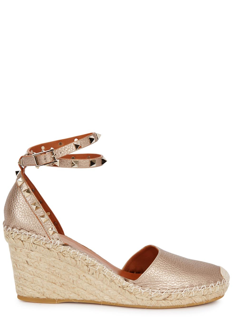 Valentino Metallic Espadrille Wedges free shipping Inexpensive outlet store locations 23aRvGIIq