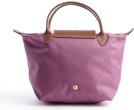Longchamp Lilac Nylon Le Pliage Small Tote In Purple