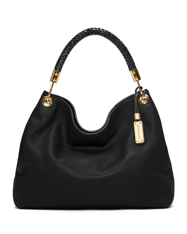 05207d67a02d0e Michael Kors Skorpios Large Shoulder Bag Black Leather   Stanford ...