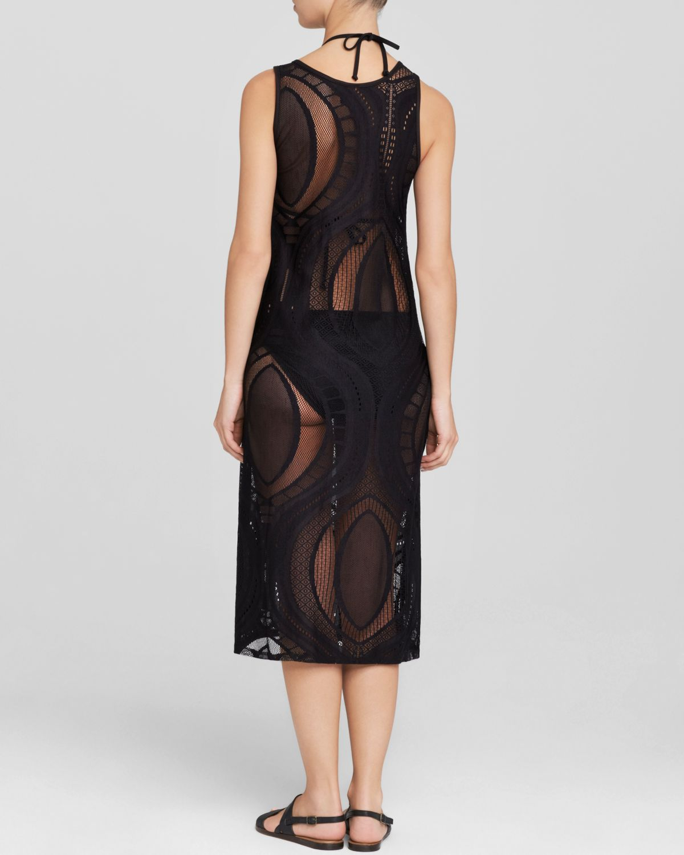 Black Tea Length Tank Dress