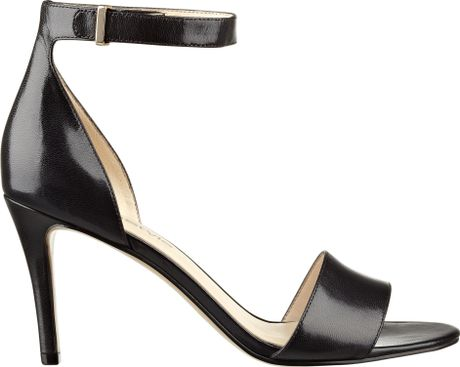377686e1aad Nine West Izzy Anklestrap High Heels in Black (BLACK LEATHER) - Lyst