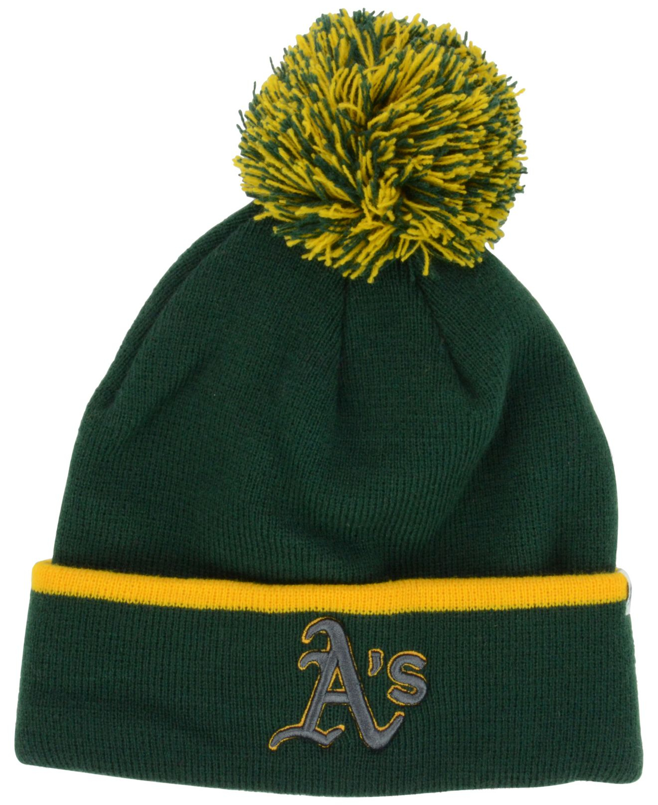 41ea0f88784fb ... czech lyst 47 brand oakland athletics baraka knit hat in green for men  15b14 c1f53