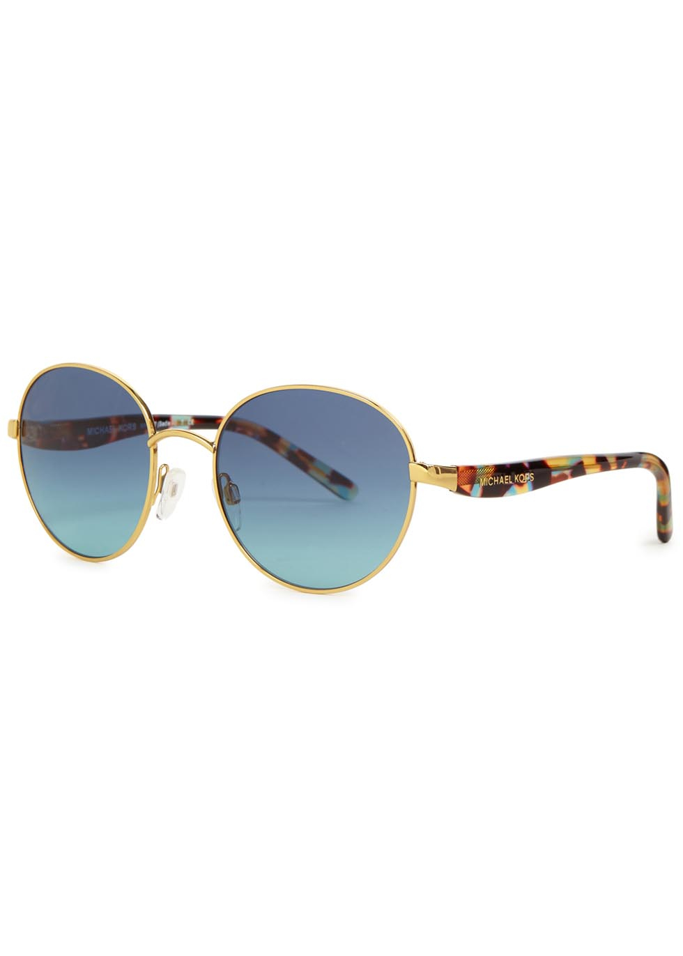Michael Kors Gold Frame Sunglasses : Michael kors Sadie Iii Gold Tone Round-frame Sunglasses in ...