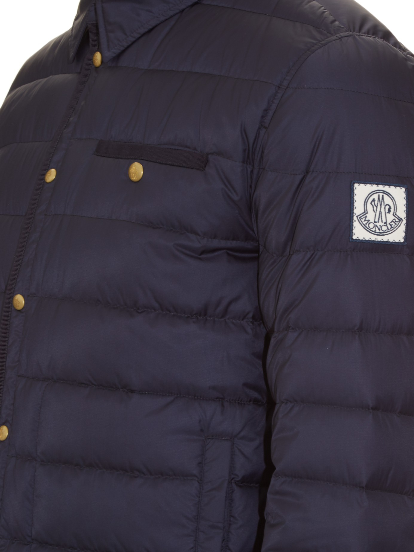 Lyst - Moncler Gamme Bleu Point-collar Quilted-down Jacket in Blue for Men