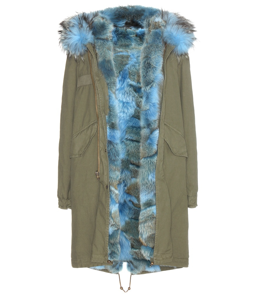 Mr & mrs italy Fur-lined Parka With Fur-trimmed Hood in ...