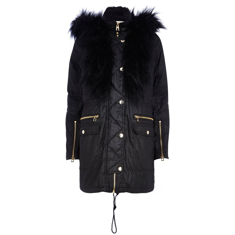 River Island Black Fur Coats - Tradingbasis