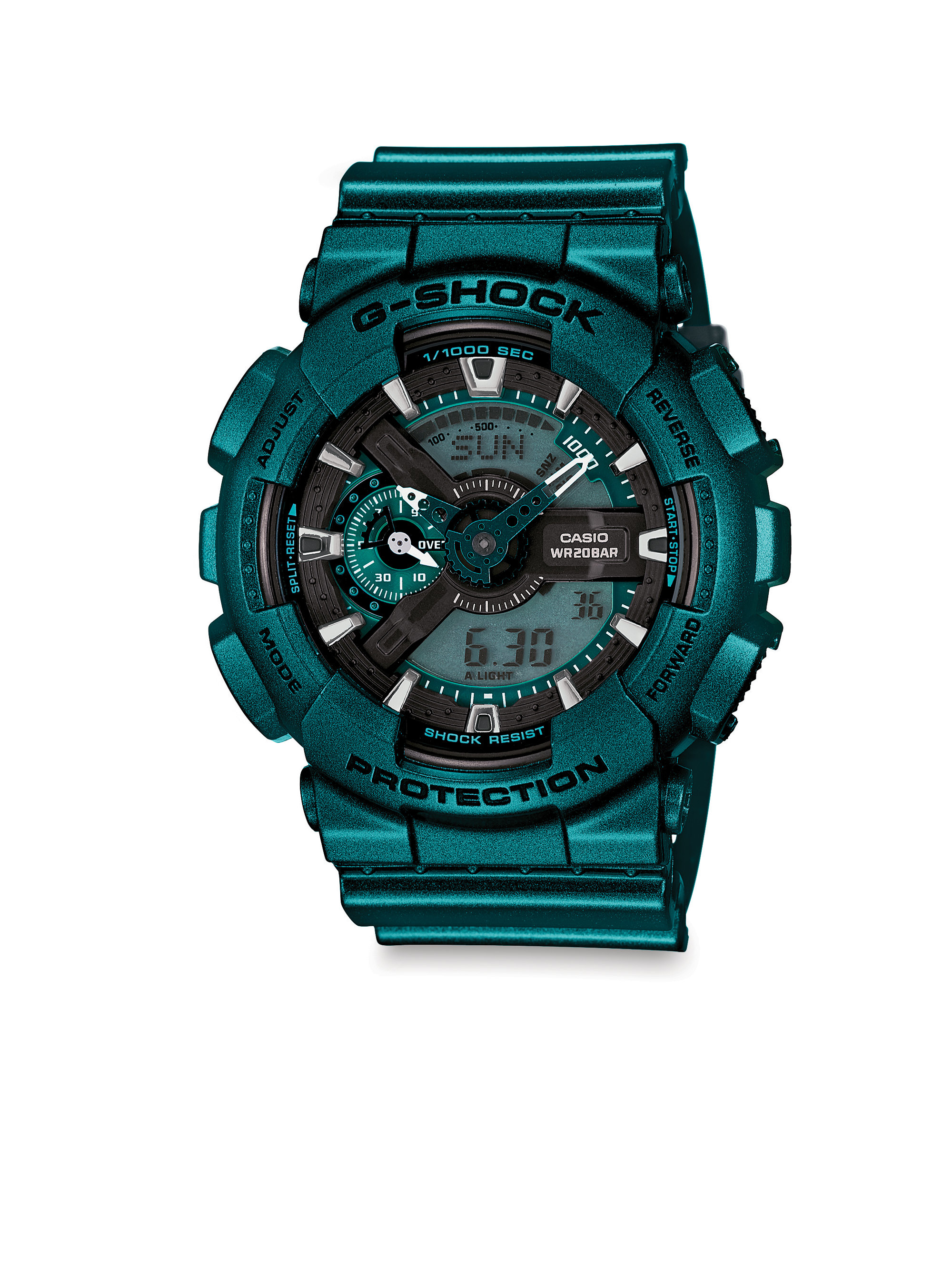 G Shock Neo Metallics Shock Reistant Watch In Green For