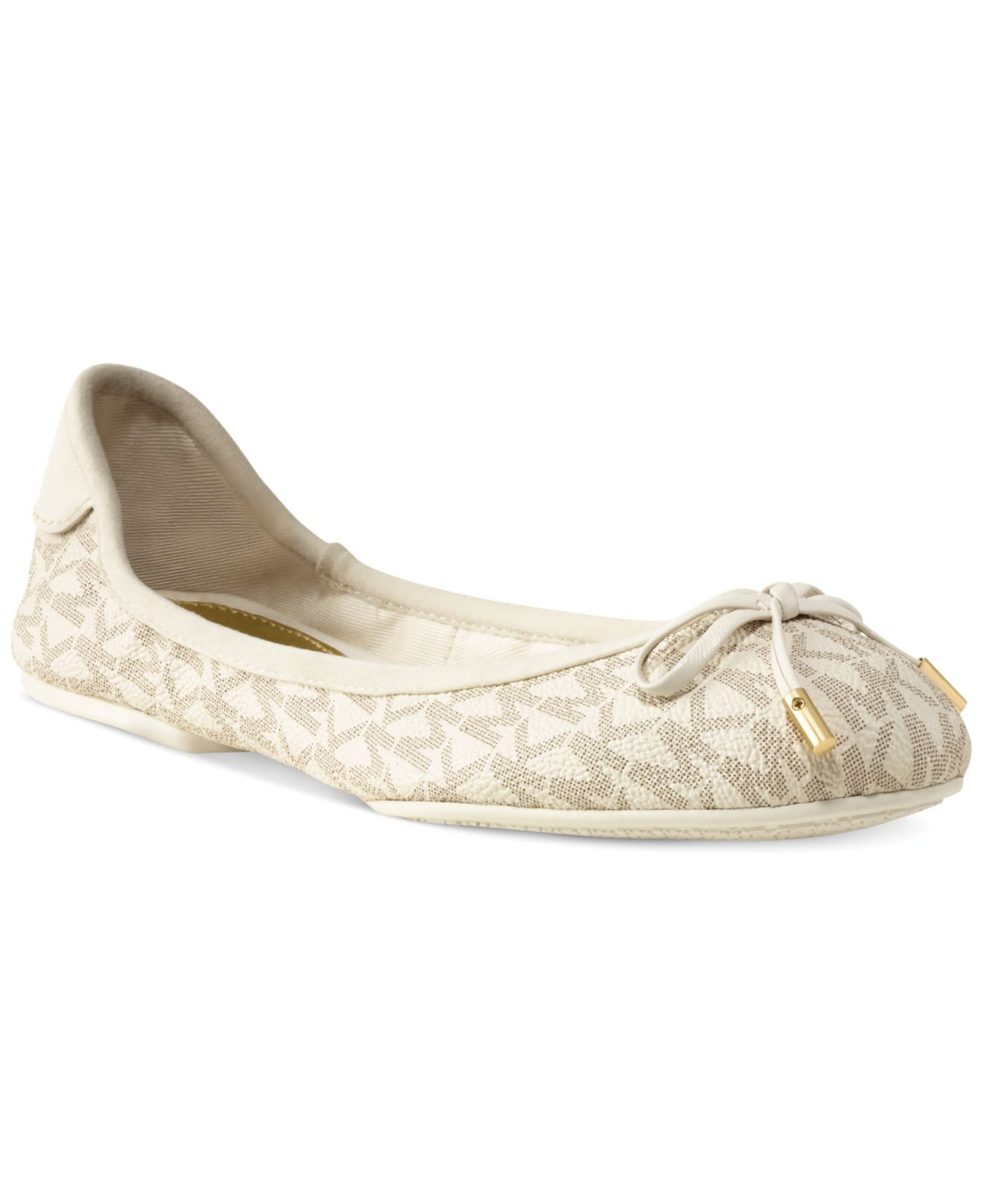 196c0020d907 ... Lyst - Michael Kors Michael Mk City Ballet Flats in Natural
