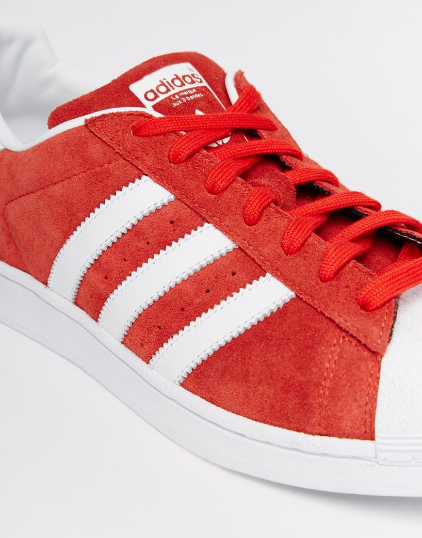 Lyst Adidas Originals Superstar Weave Trainers S75140 In Red For Men