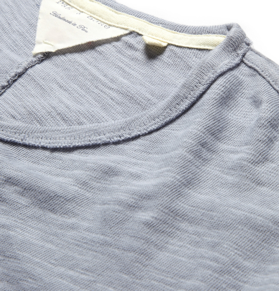 Rag bone slub cotton jersey t shirt in blue for men lyst for What is a slub shirt