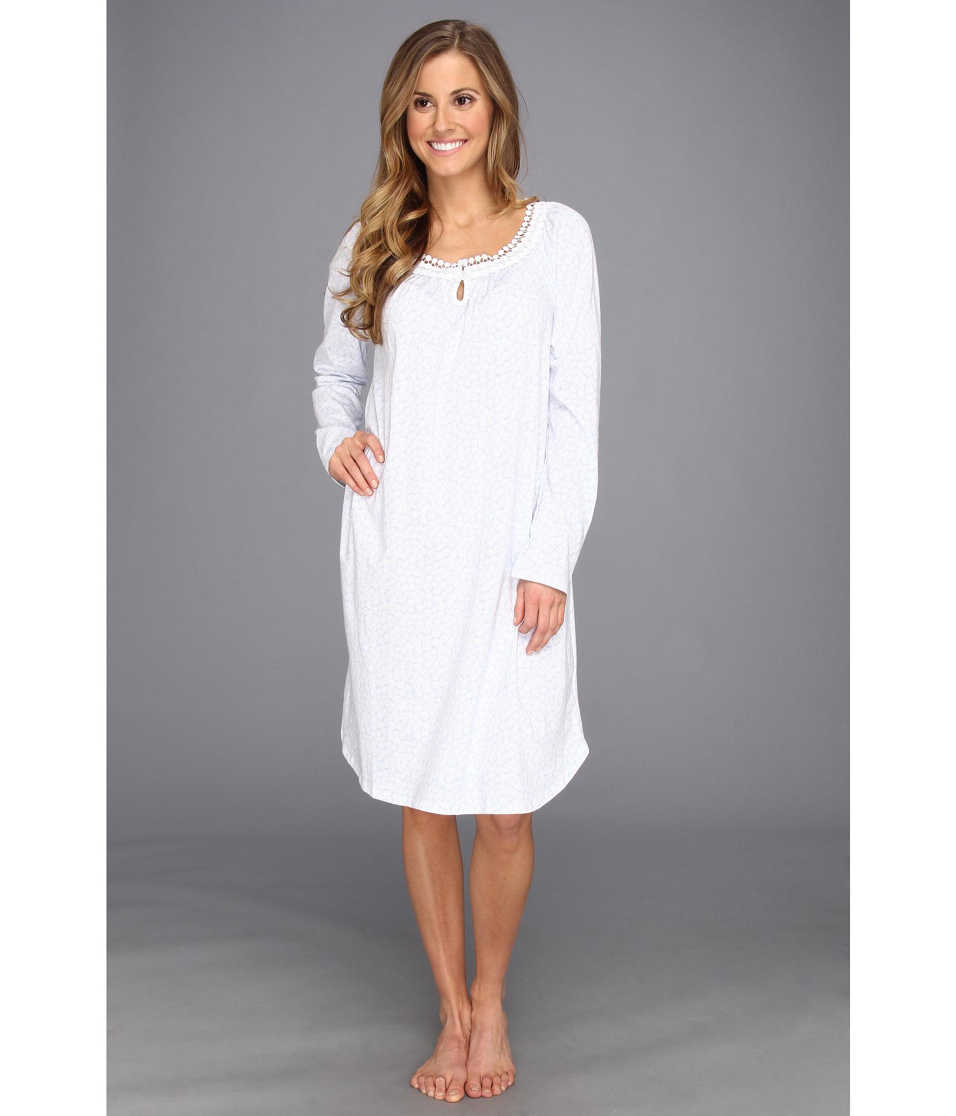 Lyst - Carole Hochman Garden Daisies Short Nightgown in White