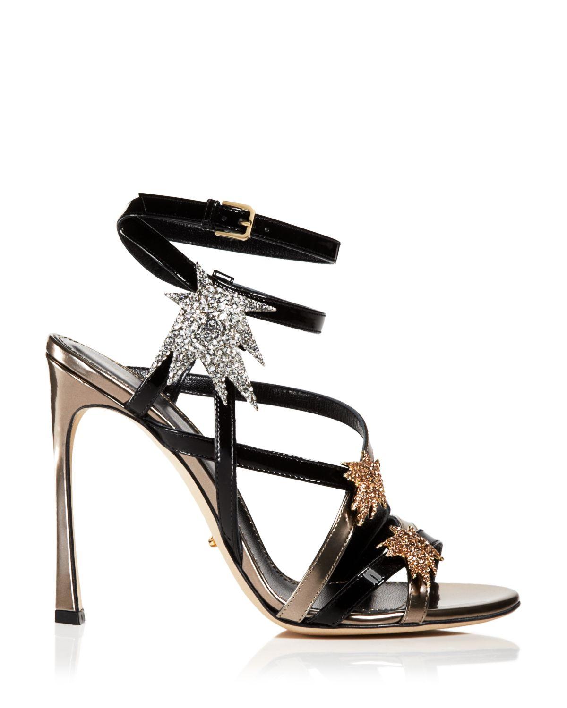 Gold High Heel Sandals Evening
