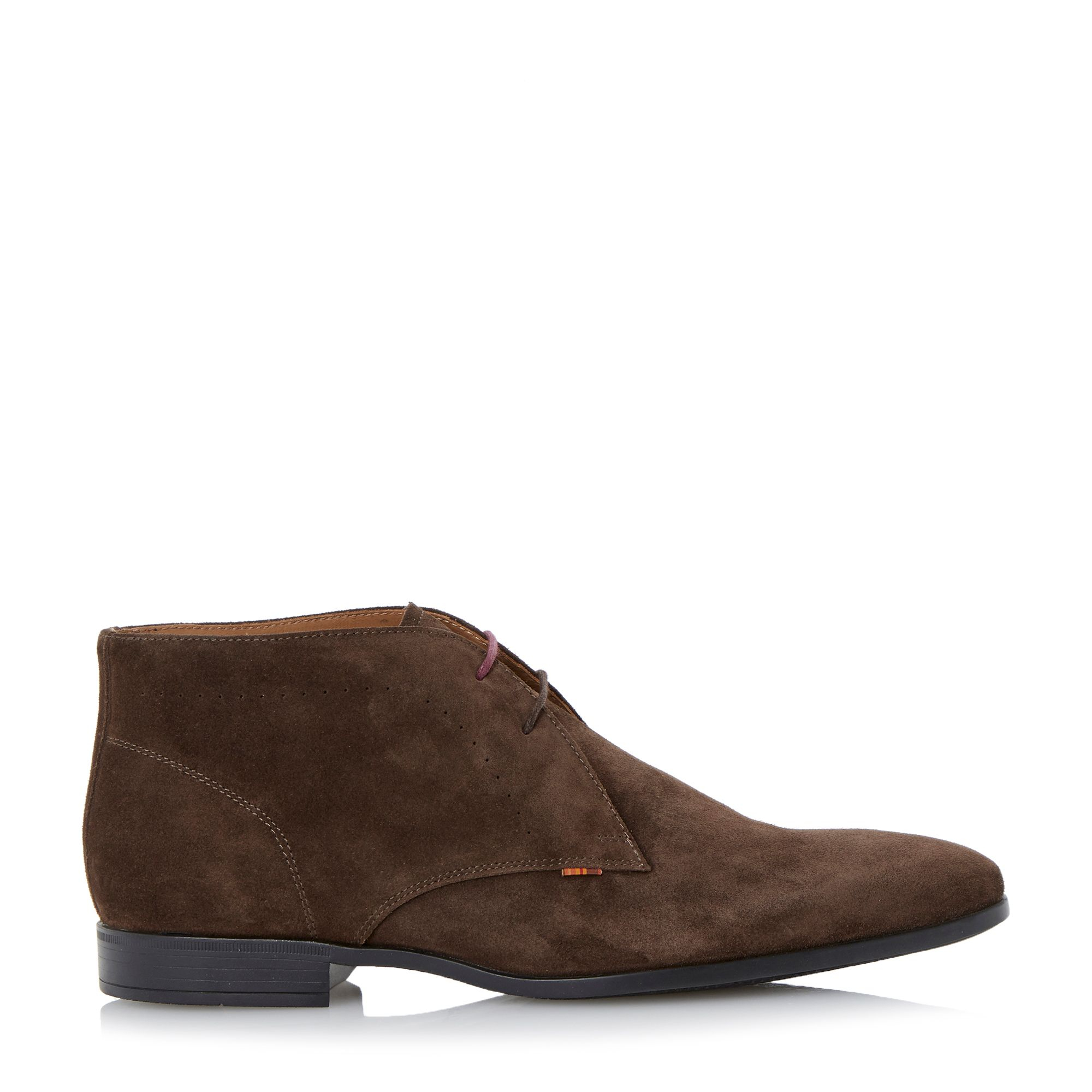 paul smith wilkinson lace up casual chukka boots in brown