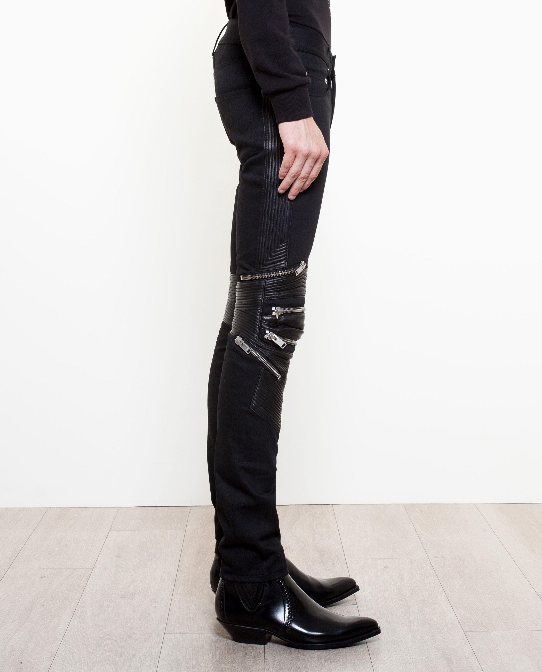 97b985665a1 Saint Laurent Zip Detail Jeans in Black for Men - Lyst