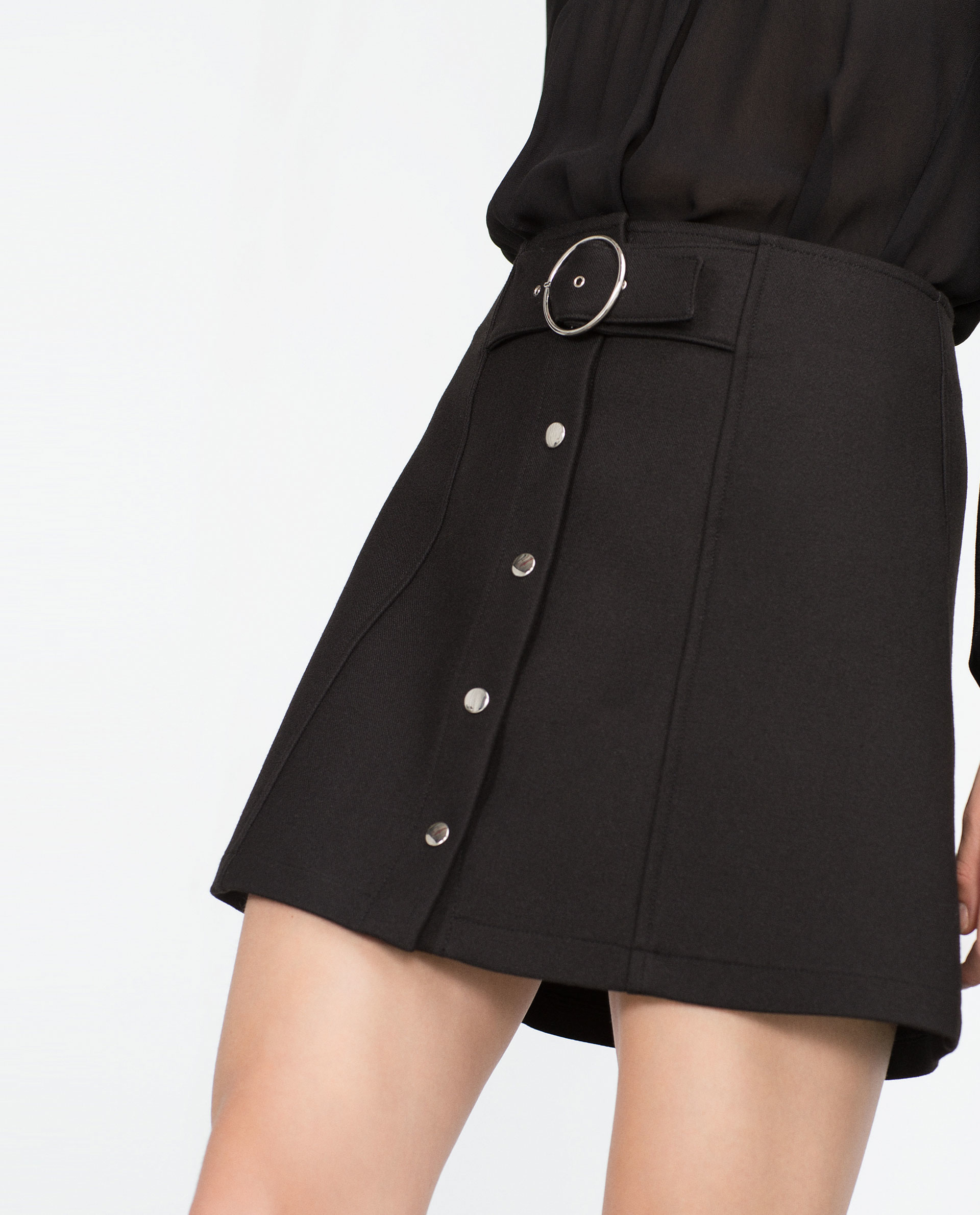 zara a line mini skirt in black lyst