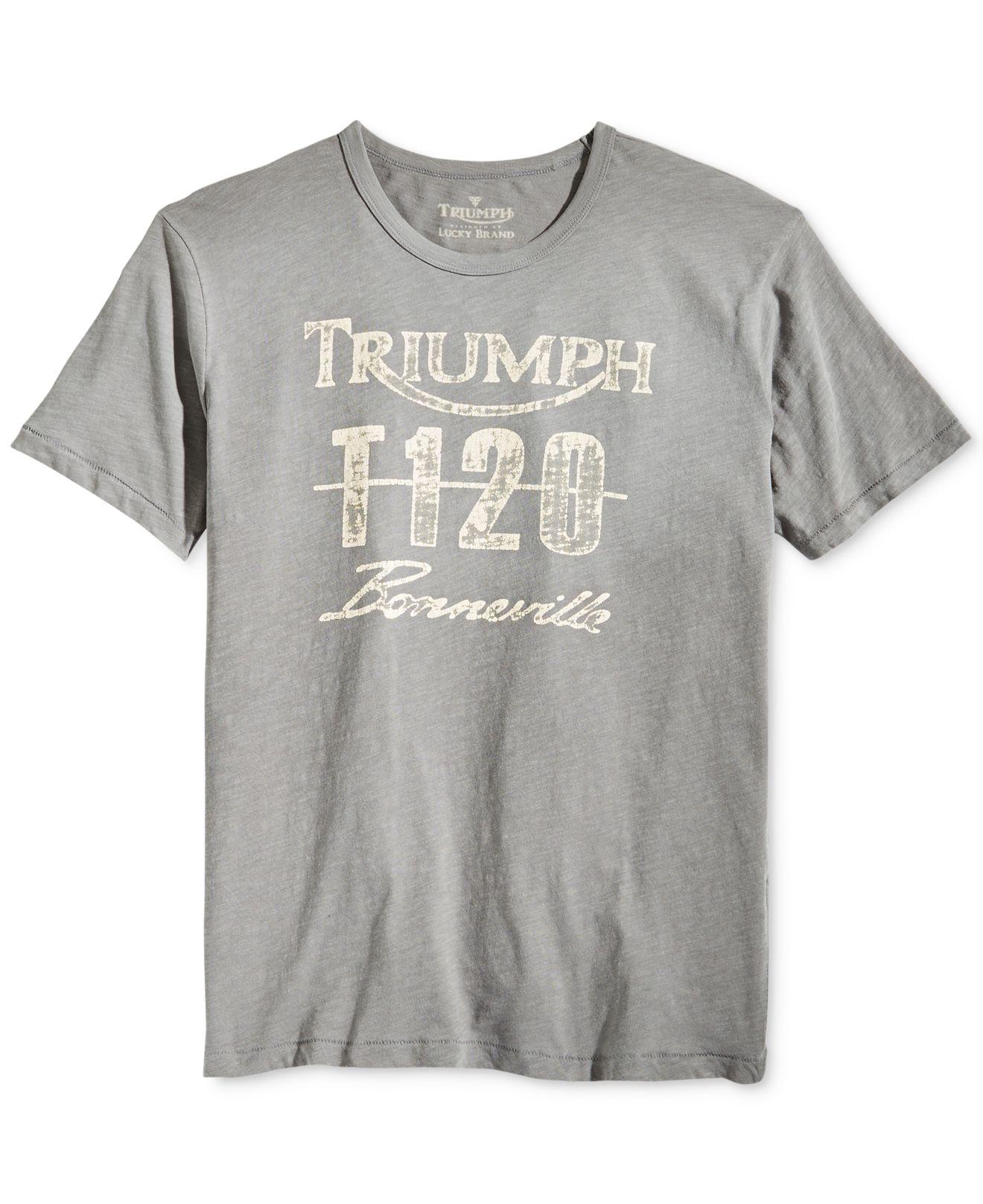 Lyst Lucky Brand Triumph T120 Bonneville T Shirt In Gray