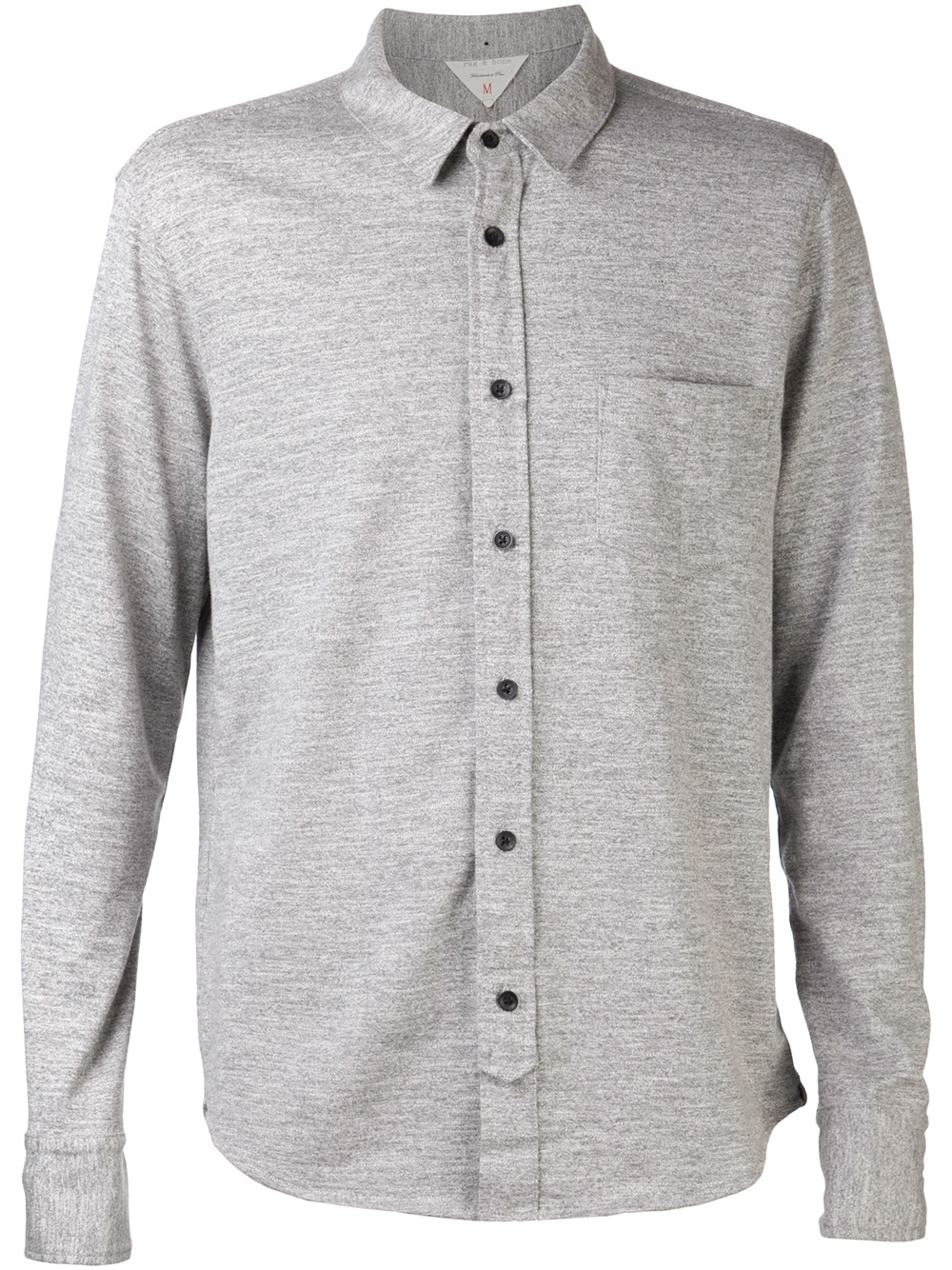 Rag & bone Button Up Shirt in Gray for Men | Lyst
