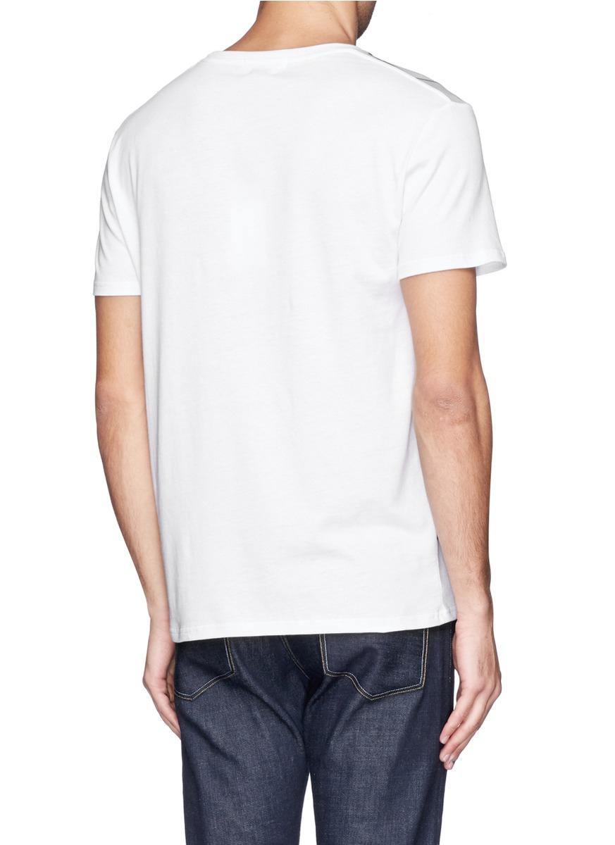 Alexander mcqueen sign print t shirt in white for men lyst for T shirt printing mobile al