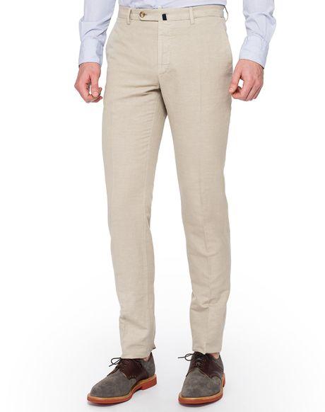Slowear Incotex Slim Fit Chinolino Pants in Beige for Men