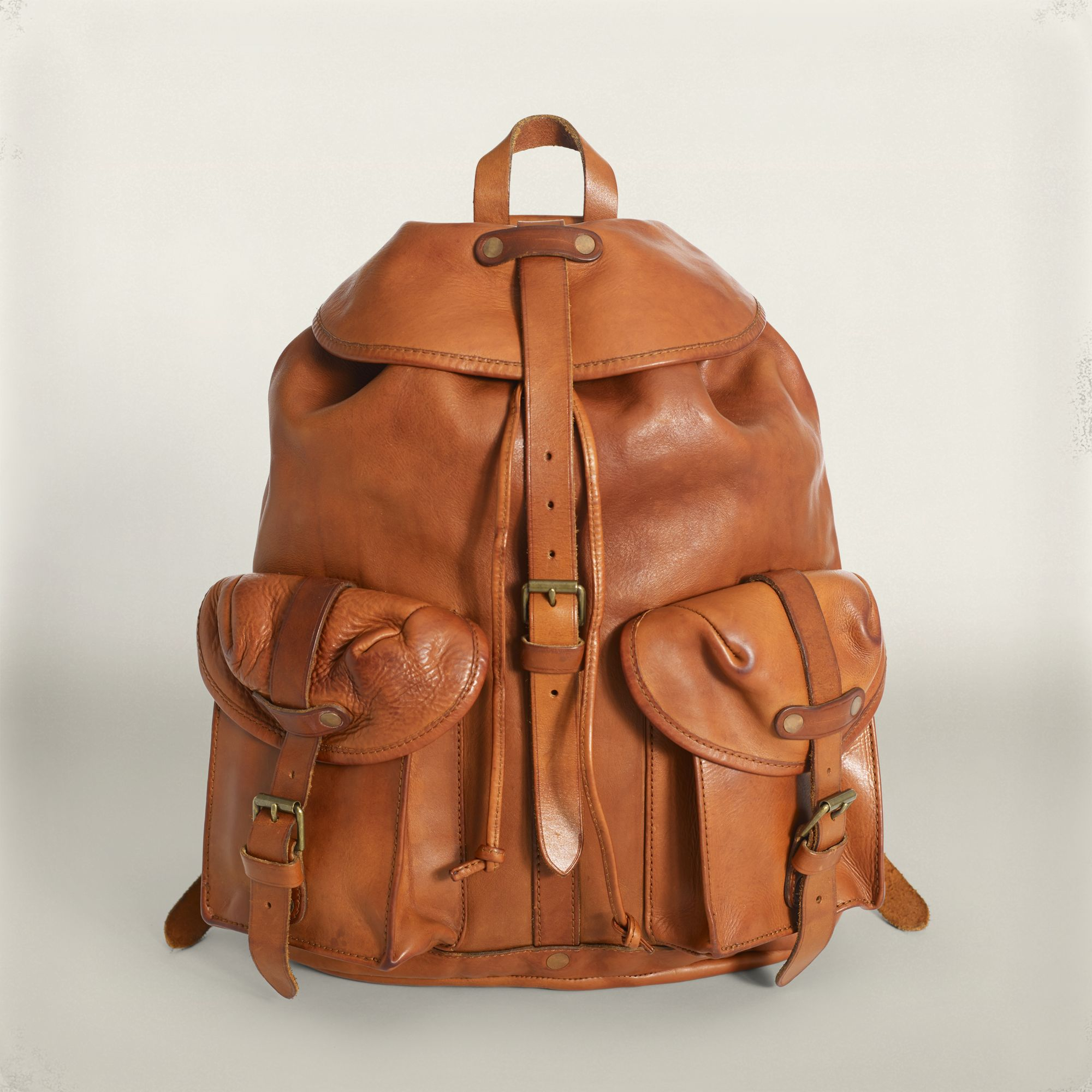 28e422aecb6c RRL Leather Riley Rucksack in Brown for Men - Lyst