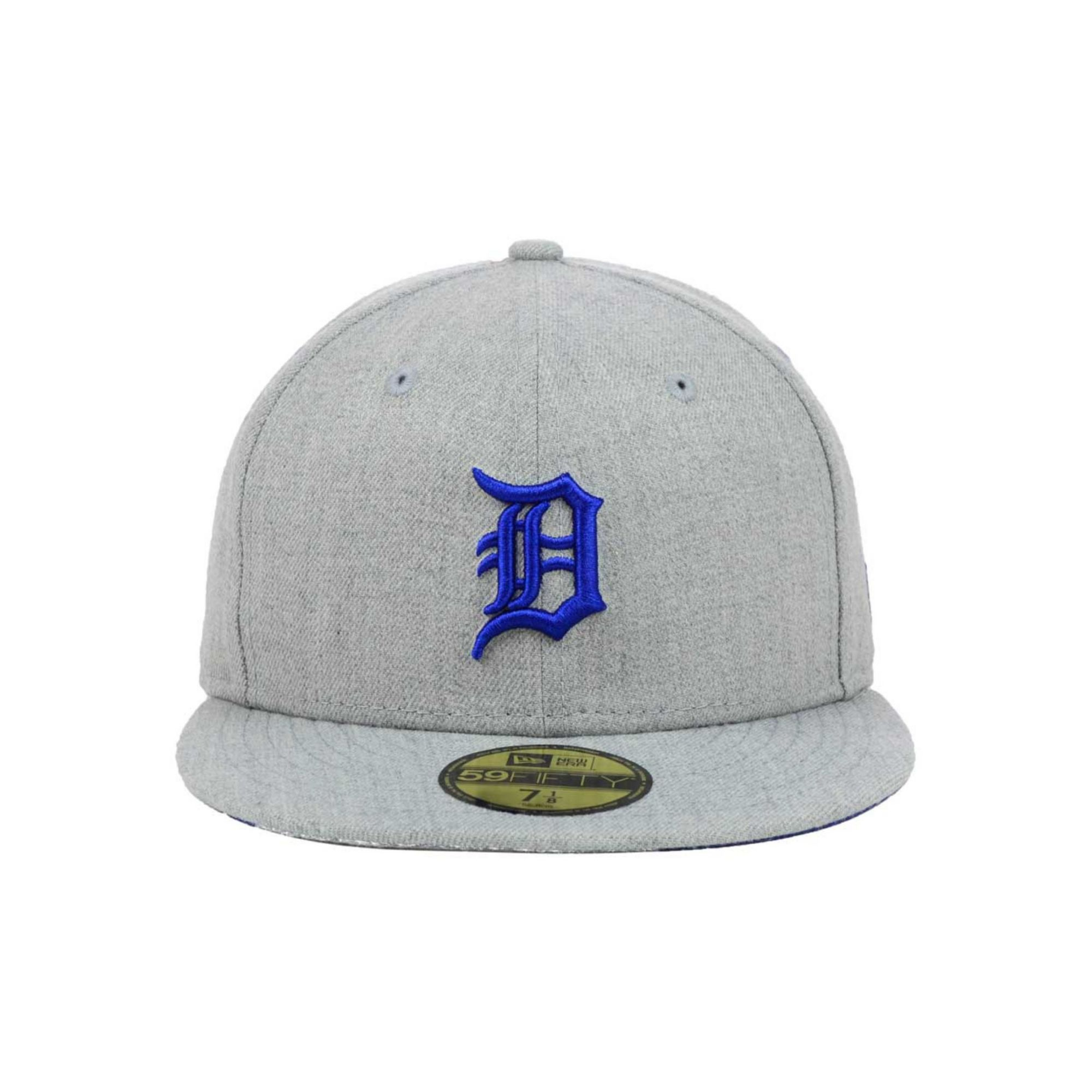 sports shoes 80a47 6d1ed ... top quality lyst ktz detroit tigers mlb heather basic 59fifty cap in  gray for men 2cea7